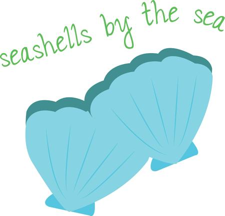 carapace: Decorate beach wear with pretty seashells.