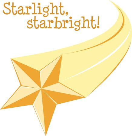 A shooting star is a great decoration for any project.