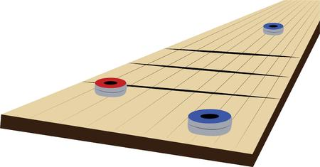 Make game time fun with a game of shuffleboard.
