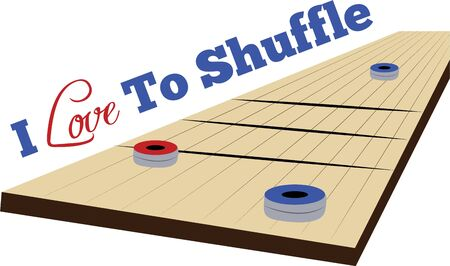 game time: Make game time fun with a game of shuffleboard.