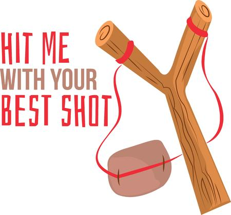 catapult: Kids love to play with slingshots.