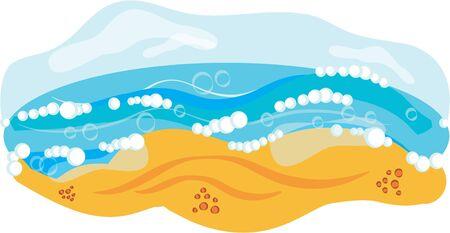 Klik hier voor de zomer uit om een ??warme start met een thermometer. Stock Illustratie