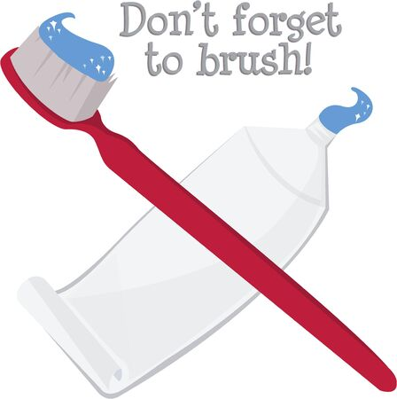Remember to brush after each meal with these supplies.