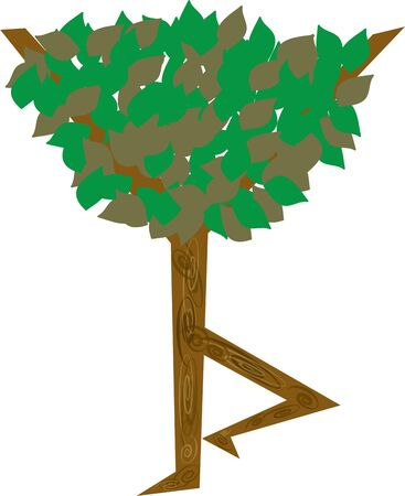 Een natuur project zal schijnen met een mooie boom. Stockfoto - 44833669