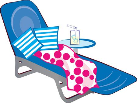 poolside: Decorate a beach tote with a poolside scene