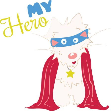 super dog: All dog owners consider their pet to be special and a hero to them.