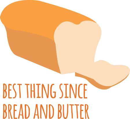 Heerlijk brood is een grote decoratie voor een keuken. Stock Illustratie