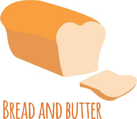 bread and butter: Delicious bread is a great decoration for a kitchen.