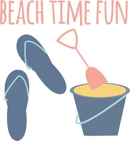 beachwear: Decorate your beachwear with summer items.