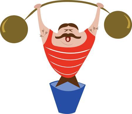 hombre levantando pesas:
