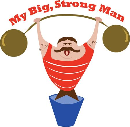 weight lifter: Take a weight lifter to the gym with you for inspiration. Illustration
