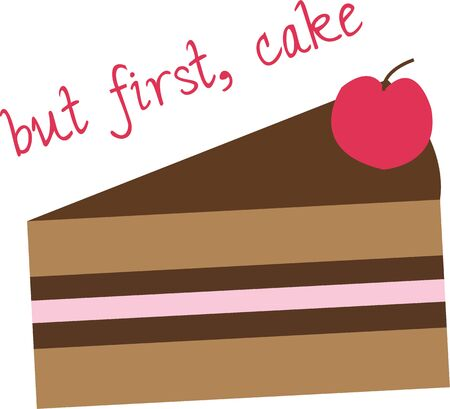 Have some delicious cake in your kitchen.
