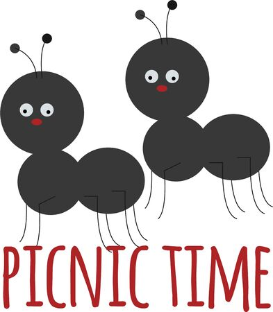 critter: Ants will be a cute decoration on a picnic blanket.