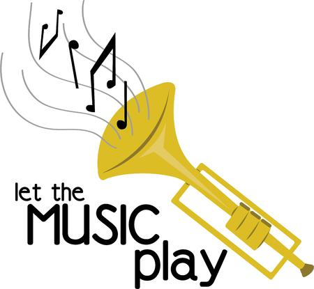 eighth note: Make beautiful music with a trumpet.