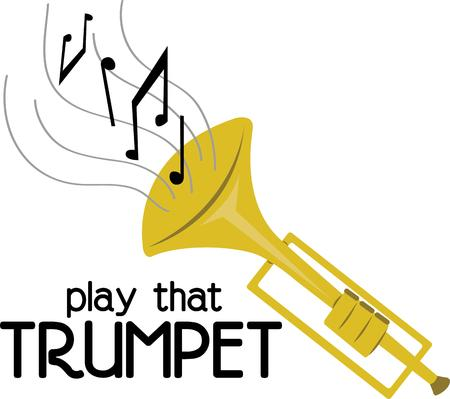 Make beautiful music with a trumpet.