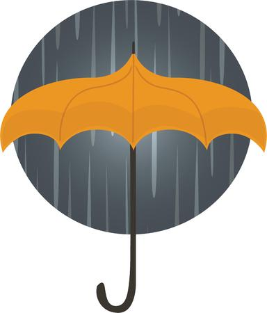 Accent your rain gear with a stormy umbrella. Ilustracja