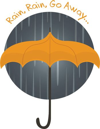 Accent your rain gear with a stormy umbrella. Illustration