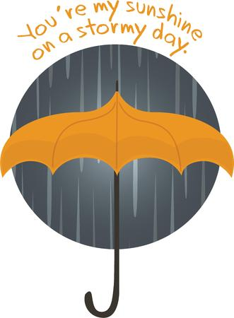 Accent your rain gear with a stormy umbrella. 向量圖像