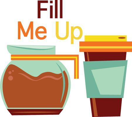 コーヒー愛好家このポットとカップに行くようになります。