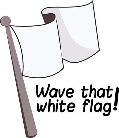 parley: Vuela esta bandera como se�al de rendirse. Vectores