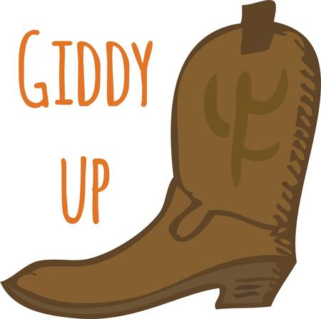 buckaroo: Show off your western style with a cowboy boot. Illustration