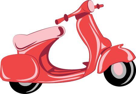 vespa piaggio: Andare avventurandosi con uno scooter vespa. Vettoriali
