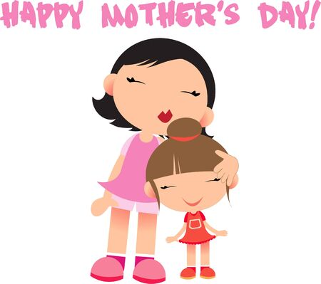 mamma: Show a daughter how much they are loved with a mommy hug.