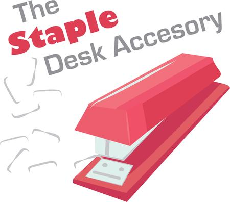 Have a stapler handy in your office.