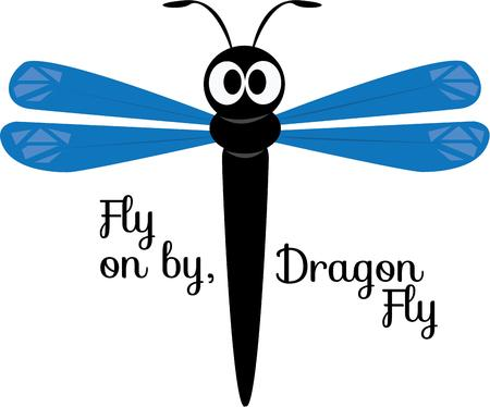 critters: A dragonfly is a fun accent for a nature project.