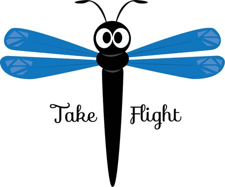 A dragonfly is a fun accent for a nature project.