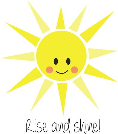 brighten: Brighten up your projects with a happy sun. Illustration