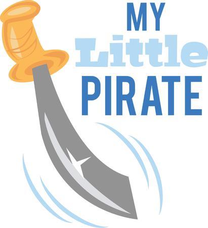 Have a great sword to play pirate. Illusztráció