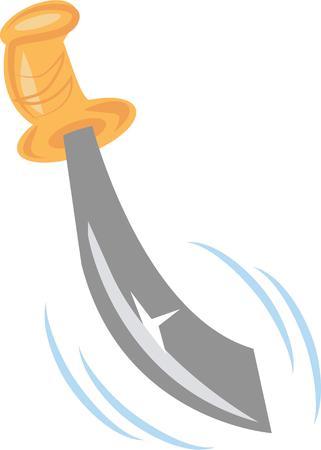 Have a great sword to play pirate. Ilustração