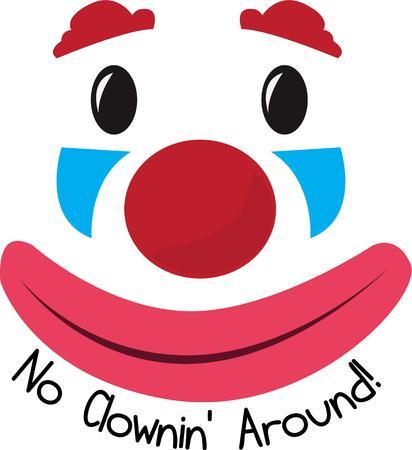 visage peint: A clown is a wonderful decoration for a nursery.
