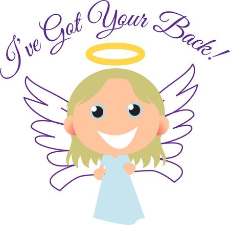 A smiling angel will add happiness to any project.