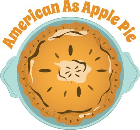 accent: Pie is always a great accent in any kitchen. Illustration
