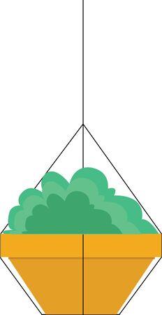 かなり飾るハンギング プラント。  イラスト・ベクター素材