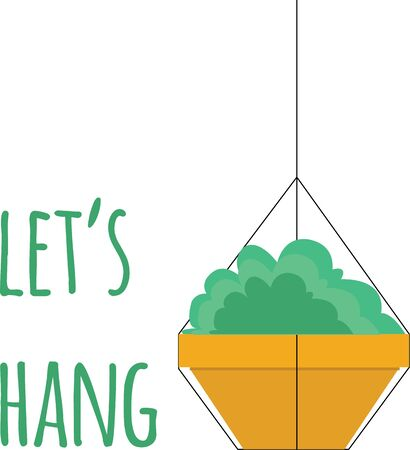 Decorate with a pretty hanging plant.