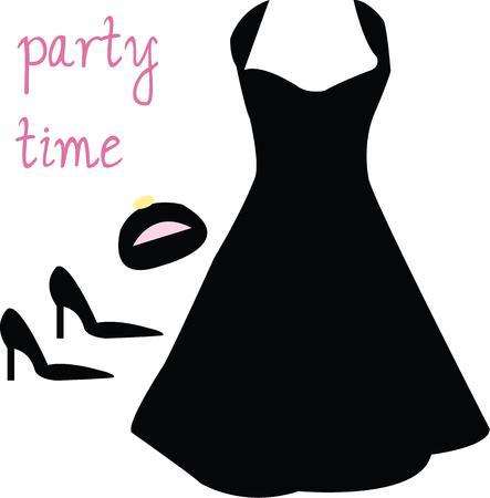 Every woman wants the perfect little black dress. Иллюстрация