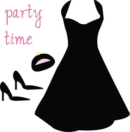 little black dress: Every woman wants the perfect little black dress. Illustration