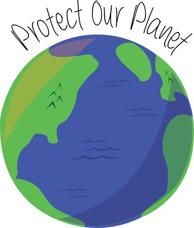Show your love for mother earth with a colorful globe. Illustration