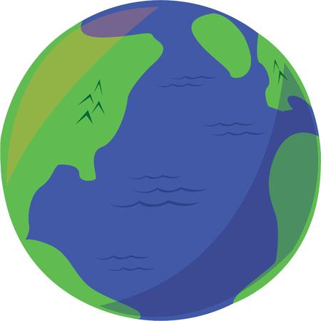 Show your love for mother earth with a colorful globe. Ilustrace