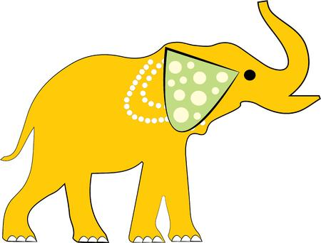 animal lover: An elephant is a great design for an animal lover. Illustration