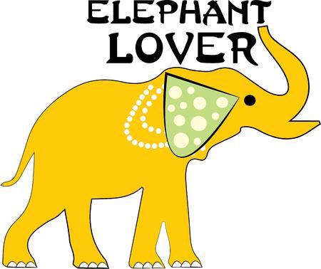 animal lover: Un elefante es un gran dise�o para un amante de los animales.