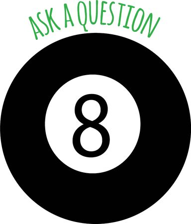 Be a fortune teller with a magic eight ball. Çizim
