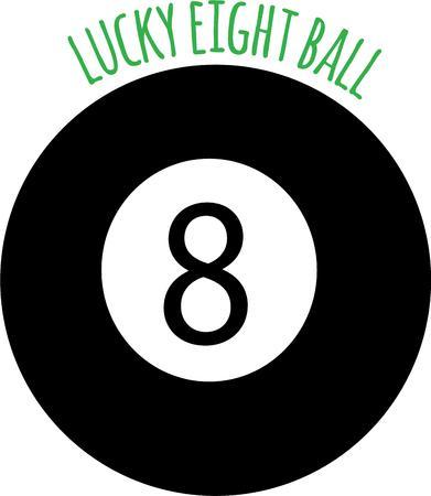 bola ocho: Sea un adivino con una bola ocho m�gica.