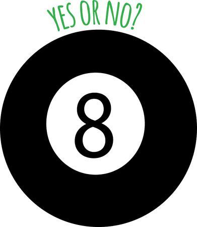 Be a fortune teller with a magic eight ball. Illusztráció