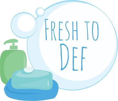 Decorate a bathroom with soap bubbles. Çizim