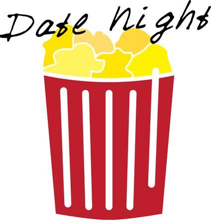 Noche de película será mejor con un delicioso palomitas. Foto de archivo - 44805946
