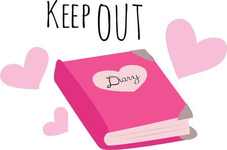 Make a special cover for a diary.